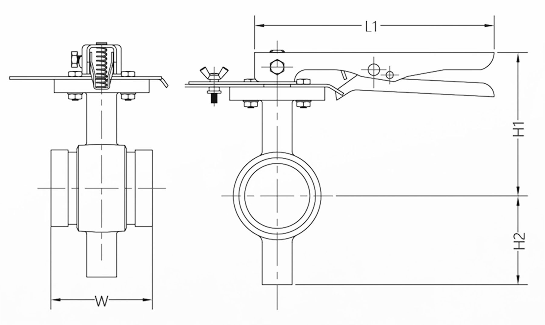 Butterfly Valve drawings